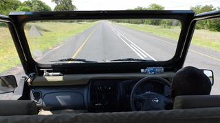 ボツワナ・カサネ周辺の道